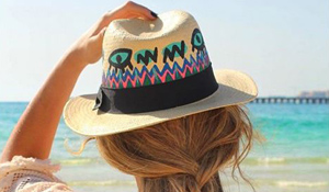 A customised Panama hat courtesy of Goe Hats & Harvey Nichols Dubai