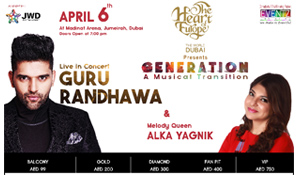 Couple Passes for Guru Randhawa and Alka Yagnik's Concert